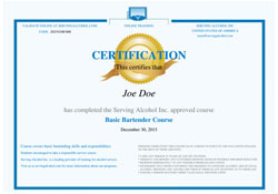Basic Bartender Skills Course