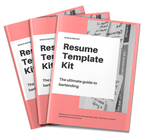 Resume Template Kit included with The Ultimate Guide To Bartending