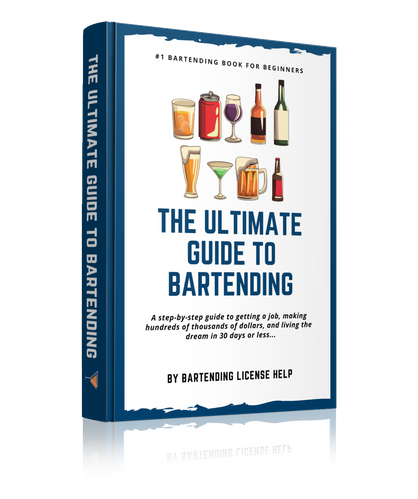 The Ultimate Guide To Bartending e-book on how to become a bartender