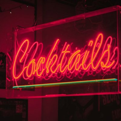 Cocktails Neon Signage for Serving Alcohol bar
