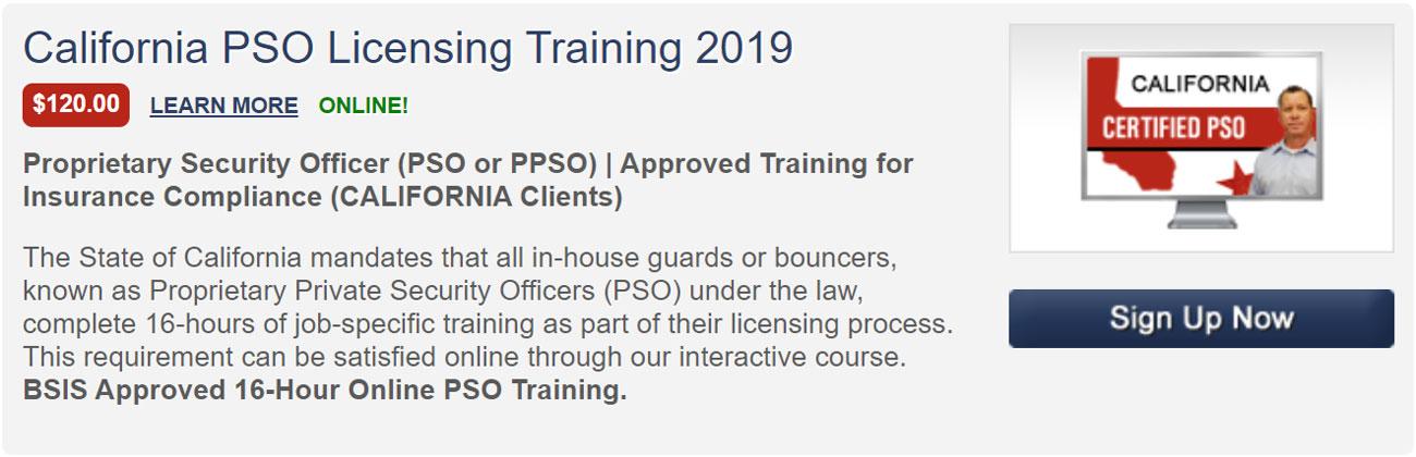 Nightclub Security Consultants California PSO Licensing Training