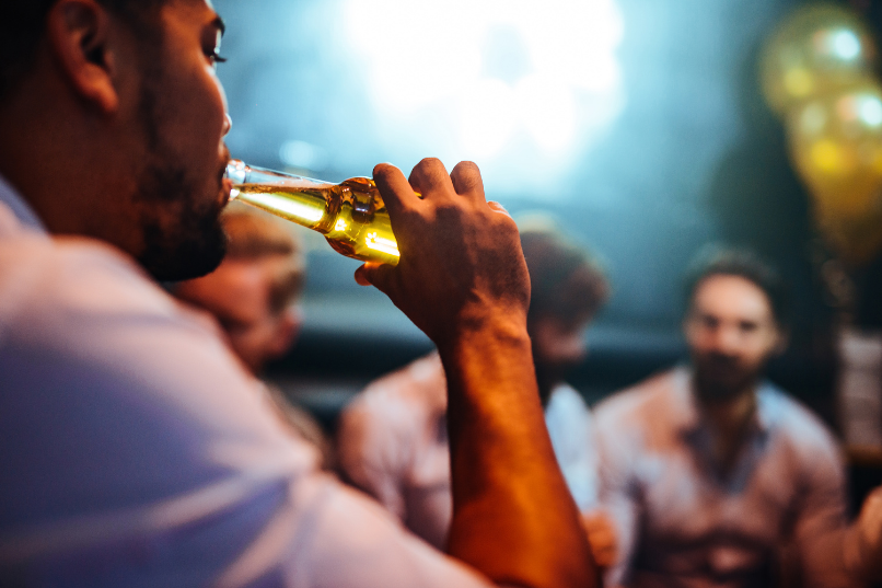guy drinking a beer