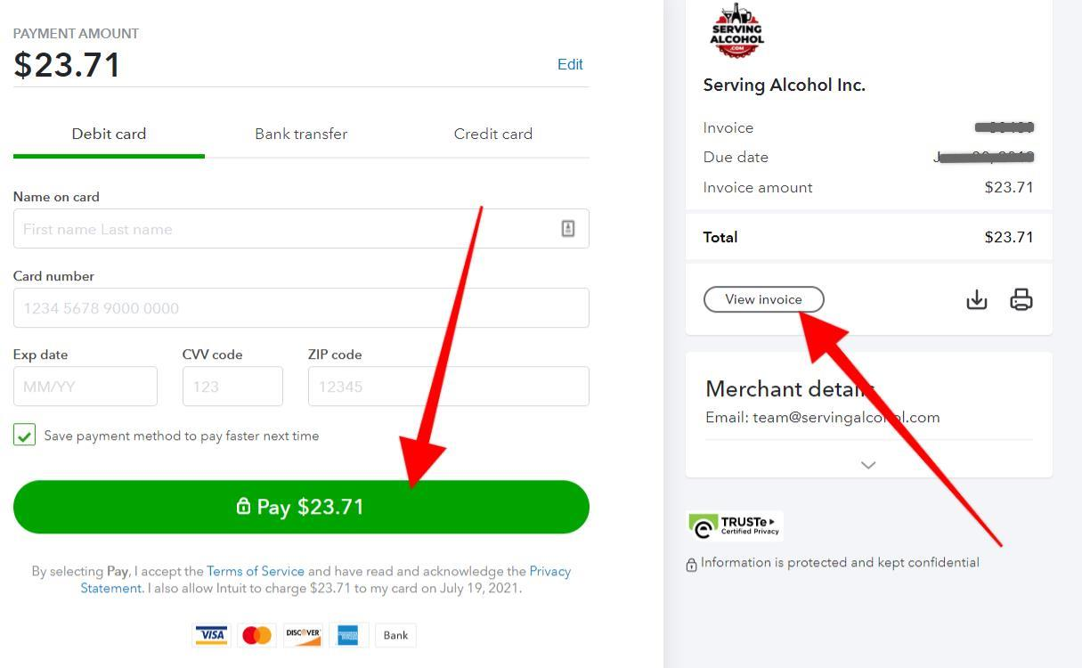 easily pay invoice online